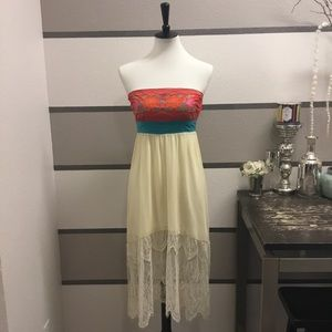Flying Tomato Embroidered Lace Dress